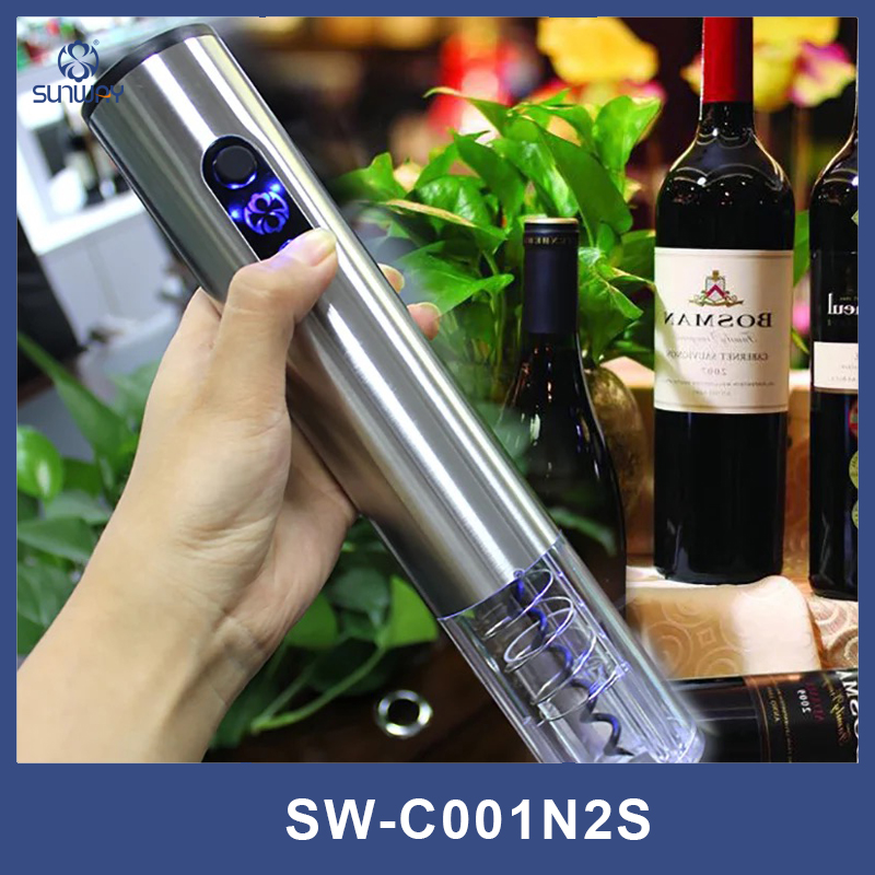 Stainless steel electric bottle opener